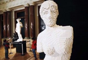 "An art work titled ""Venus de Milo,"" is seen during ""The Art of the Brick"" exhibition in Brussels"