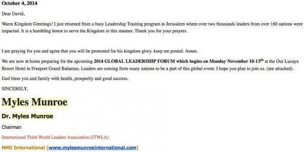 Dr Myles Email